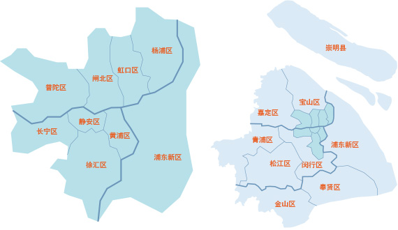 上海市各区县地图