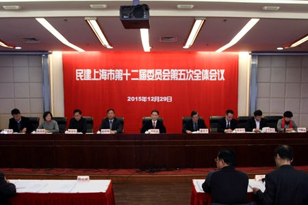 民建市委召开十二届五次全体会议