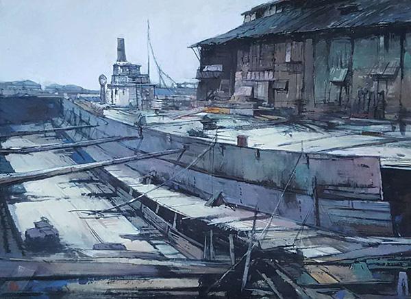 上海近代工业发祥地杨树浦,24幅水彩展现工业遗存