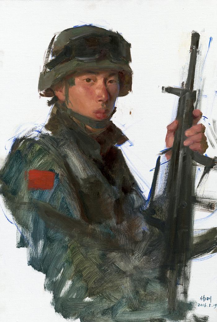 解放军战士-上海文联 这些军旅题材绘画,能否 感动 上海