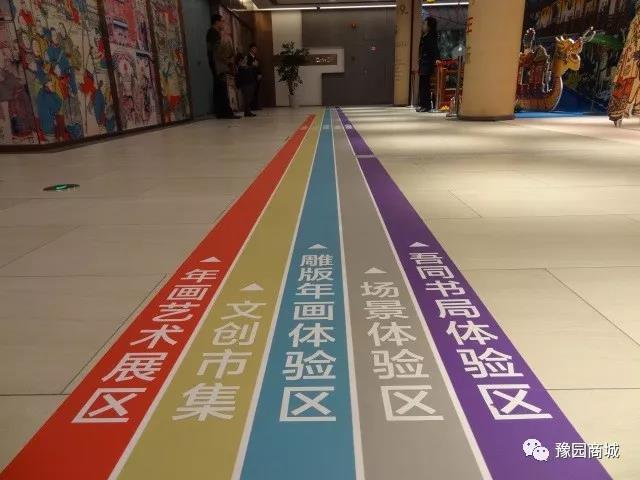 沿客梯上至2楼,顺着清晰的地面标识指引,展区的各个部分清晰图片