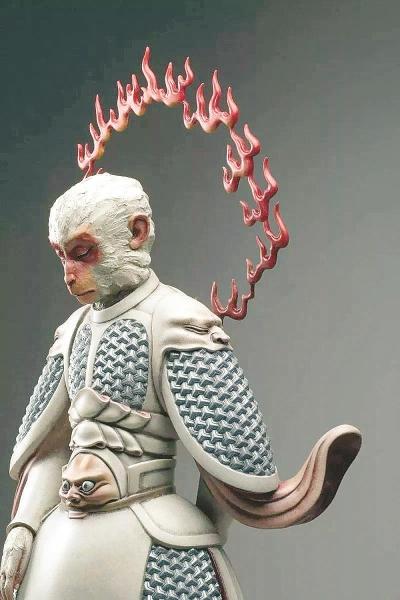 而近期,一组名为《真假美猴王》的雕塑作品在网络走红.
